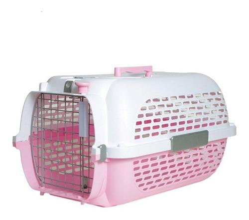Guacal Transportador 200 Perro/gato Base Rosada Talla M