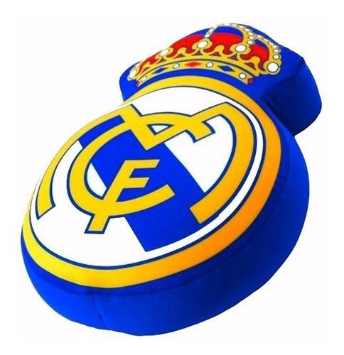 Cojin Peluche Escudo Real Madrid 30cm Suave Cómodo