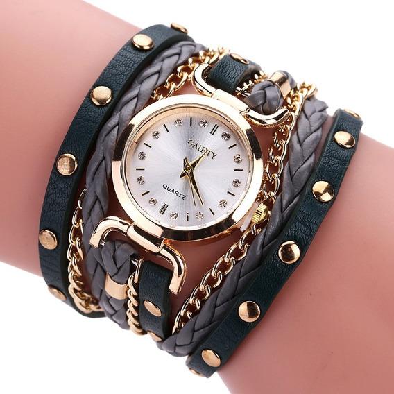 Relógio Feminino Social Barato Quartz Galery