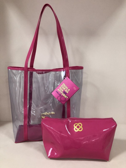 Bolsa Feminina Praia Plástico Piper Petite Jolie Pj4053 Pink