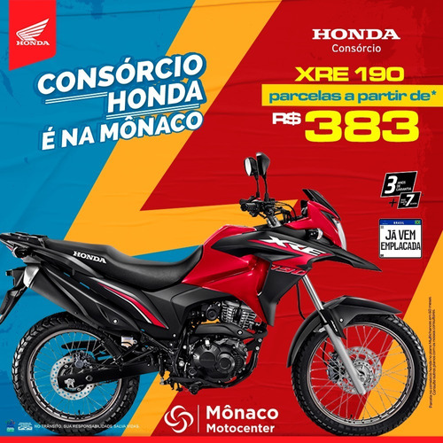 Imagem 1 de 1 de Honda  Xre 190
