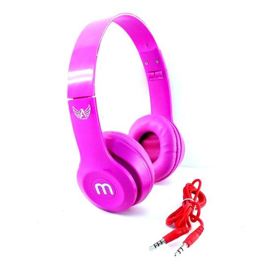 Fone Ouvido Headphone Stereo Ltomex Rosa Celular Radio Notebook Desktop Acompanha Cabo P2 A11284