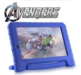 Tablet Kid Pad Infantil Vingadores Case Azul Tela 7 Nota Fis