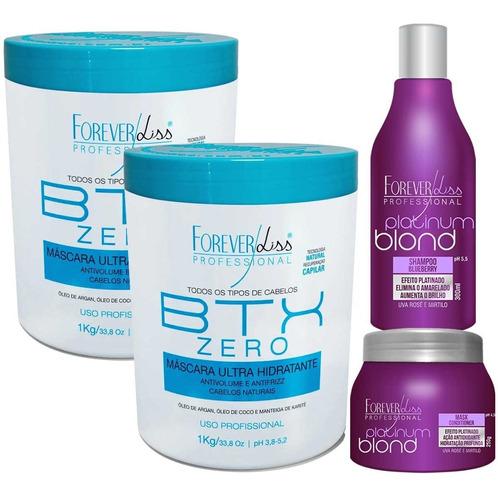 Kit 2 Botox Zero E 1 Kit Platinun Blond Forever Liss