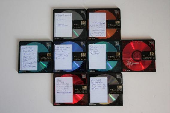 8 Cd Md Mini Disc Sony 80m Usados Estão Gravados Regraváveis