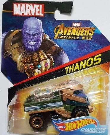 Carro Superheroe Thanos Marvel Hot Wheels Ref Bdm71