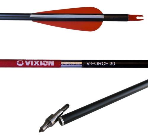 Imagem 1 de 5 de Flechas Carbono Arco E Fecha Até 75 Lbs V Force 30 (6 Pc)