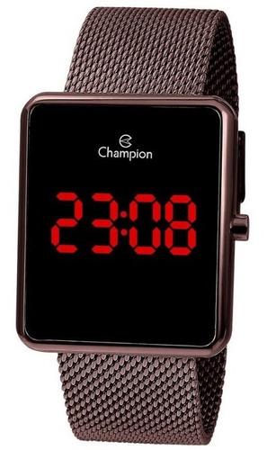 Relógio Champion Feminino Digital Marrom Quadrado Original