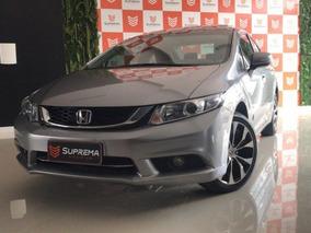 Honda Civic Exr 2.0 Flexone Top Teto Automatico 2016 Cinza