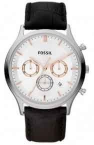 Relógio Fossil Masculino Ansel Leather Cronografo Ffs4640 *v
