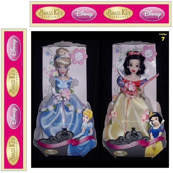 Boneca Branca De Neve E Cinderela Brass Key 2006 Disney