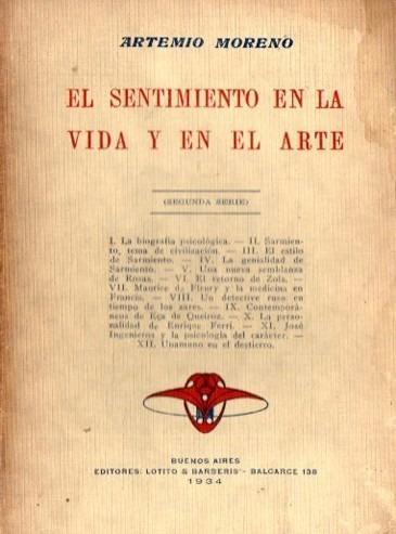 Artemio Moreno - El Sentimiento En La Vida Y En El Arte