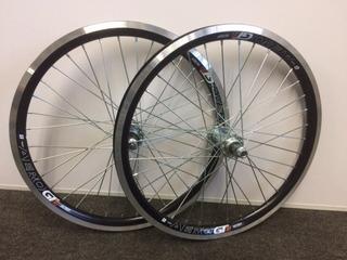 Roda Montada Aro 20 Aero Raio Fino Mtb Bike Par Dian/tra C/m