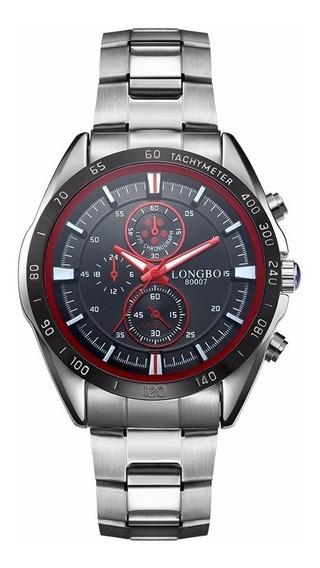Reloj Longbo Hombre Acero Inoxidable Analogico Sport