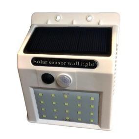 20 Luminária Solar Parede 20 Leds 4w Sensor De Movimento