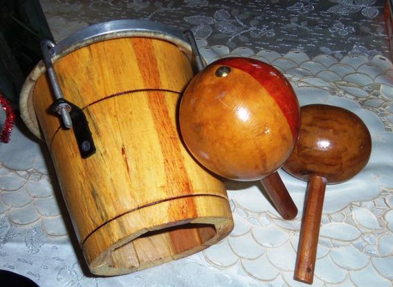 Instrumentos Musicales Tambor Y Maracas Llaneras