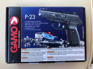 Pistola De Pressão Co2 Gamo P-23 4,5mm 12 Tiros - Preta
