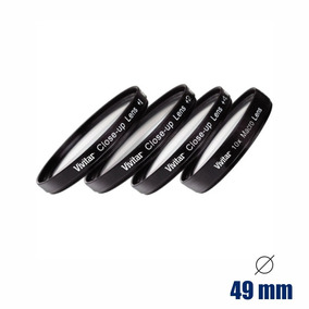 Kit De Filtros Close-up 49mm +1 +2 +4 +10 - Vivitar