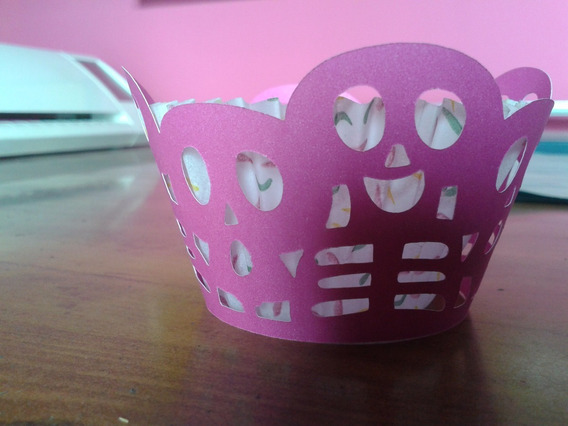 Porta Cupcakes Esqueletos Halloween X6 Wrapper Pirotin