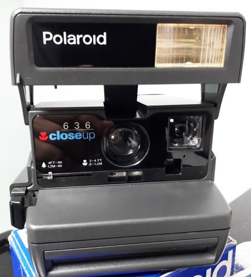 Câmera Fotográfica Polaroid 636 Closeup - Bom Estado! Retrô