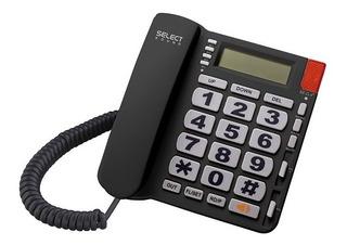 Teléfono Alámbrico Negro Select Sound Manos Libres 8216