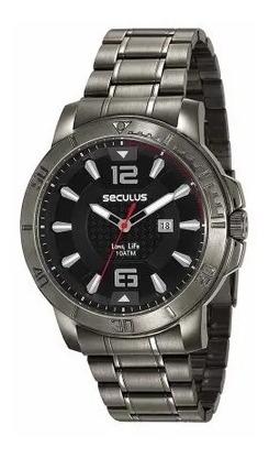 Relógio De Pulso Masculino Seculus Cód. 23625gpsvsa2