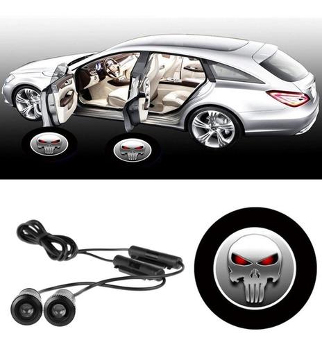 Luz Led Fantasma Punisher  Puerta Universal Para Carro .