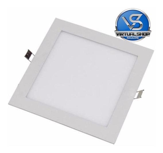 Kit 15 Painel Plafon 25w Luminaria Led Quadrado Embutir Slim