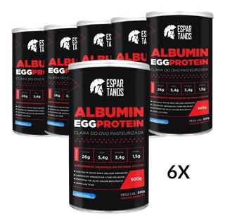 6x Albumina Egg Protein 500g - Kit Atacado Cx Fechada