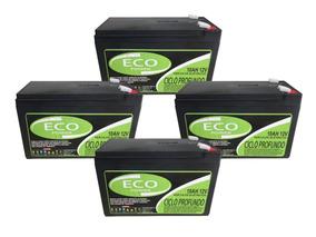 Kit Bateria 4un 6dzm10 12v 10ah Ciclo Profundo Bike Elétrica