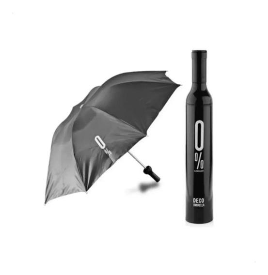 Sombrilla Paraguas Forma De Botella 0% Deco Umbrella Colores