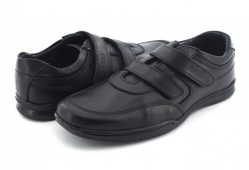 Zapato Escolaryuyin 77510 Negro Doble Velcro 15-17 Niños