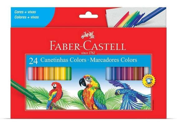 Canetinha 24 Cores Faber Castell
