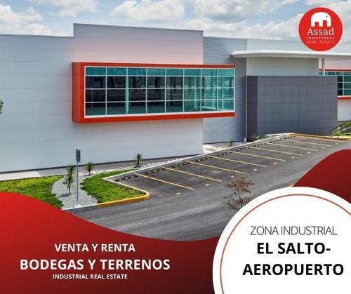 Bodega En Renta-venta / Industrial Warehouse El Salto-aeropuerto Desde 1,900 M² Hasta 18,154 M²