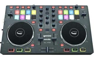 Controlador Dj Gemini Slate Usb Serato Dj Intro Mixer 2ch