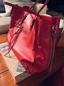 Bolsa Balenciaga Papier Vermelha Original.
