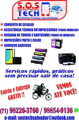 Manutenção E Conserto De Celular, Impressora, Recarga Toner