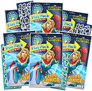 Captain Marvel Party Favors Pack ~ Bundle Of 6 Envío Gratis