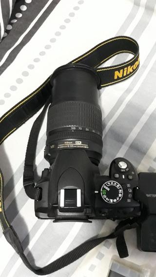 Camera Nikon D3100 Com Lente 18 -105mm