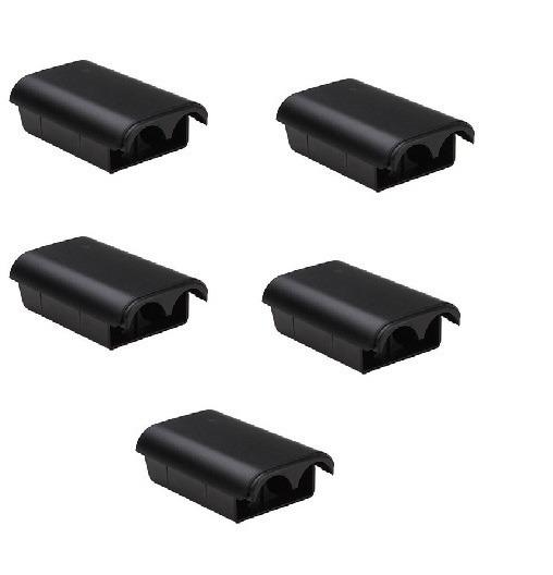 5 Tampas Suportes Bateria Controle Xbox 360 Pilhas Manete