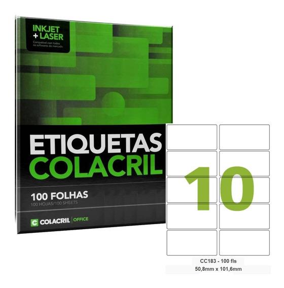Etiqueta Adesiva Carta Cc183 50,8x101,6mm 500 Folhas Colacri