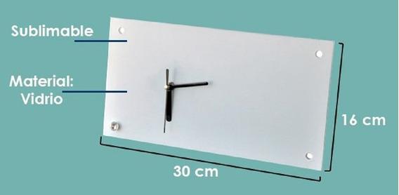 12 Relojes Rectangulares Sublimarts 30x16 Cm
