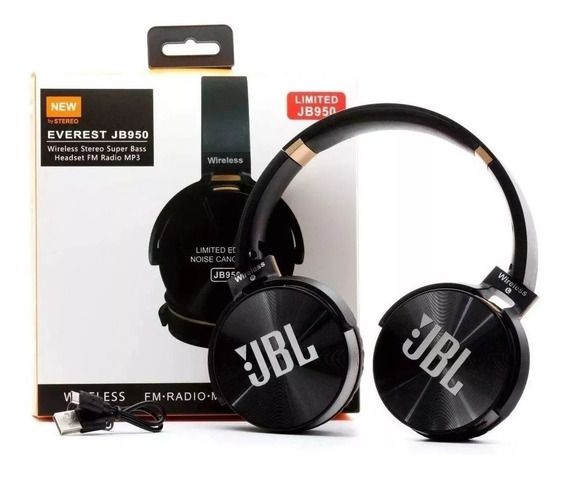 Fone De Ouvido Bluetooth Jb950 Sem Fio Wireless Fm-mp3