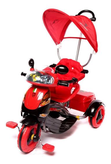 Triciclo Infantil Bebes Scooter Capota Luces Musical 7052