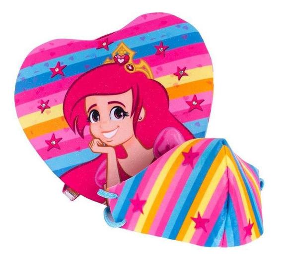 Bolsa Infantil Princesa Pink De Coração Princesa