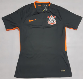 Camisa Corinthians Iii Cinza 2017 Jogador Original Nike Nova