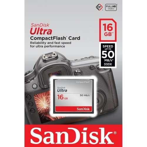 Cartao De Memoria Compact Flash 16gb Sandisk Ultra 50mb/s