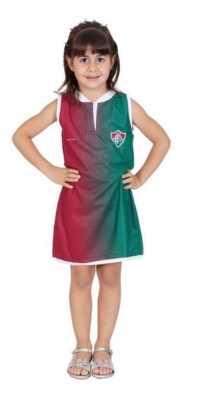 Vestido Fluminense 2019 Tricolor Infantil - Torcida Baby