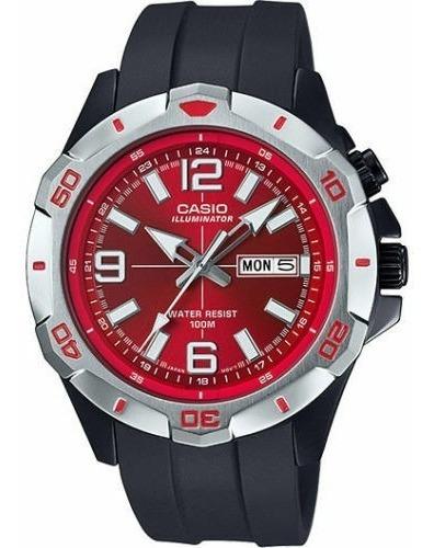Relógio Masculino Casio Mtd-1082-4avdf - Red