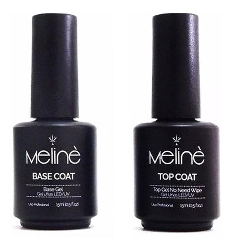 Meliné Base + Top Coat Esmalte Semipermanente Gel On Off